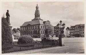 RP, Stadhuis Met Standbeeld Minckelers, Maastricht (Limburg), Netherlands, 19...