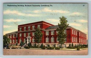 Lewisburg PA-Pennsylvania,Bucknell Univ. Engineering Dept., Linen c1950 Postcard