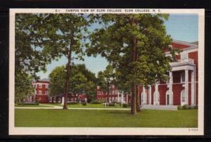 North Carolina colour PC Campus View  Elon College NC unused