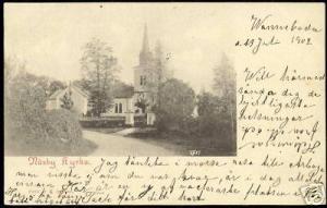 sweden, NASBY NÄSBY Kyrka, Church (1902) Stamp