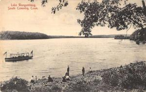 South Coventry Connecticut Lake Wangumbaug Waterfront Antique Postcard K76544