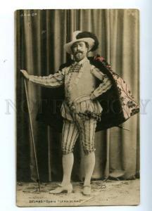 138867 DELMAS French OPERA Singer Bass-baritone Vintage PHOTO