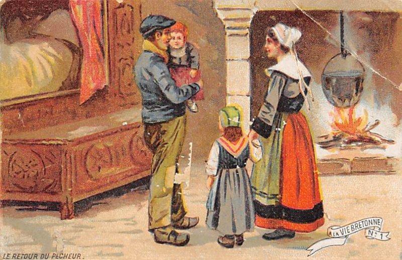 Vie Bretonne Advertising Paper on back