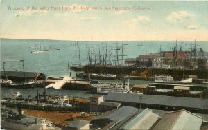 Vintage Postcard Scene of the Water front From the Ferry Tower San Francisco CA
