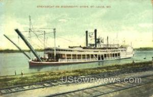 Steamboat on Mississippi River St. Louis MO Unused