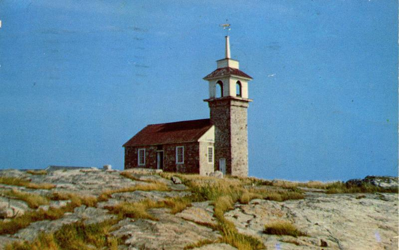 NH - Isles of Shoals. Star Island, Old Gosport Church