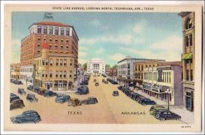 State Line Ave. Texarkana Ark & TX