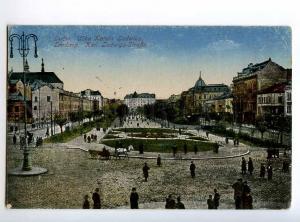 248458 UKRAINE LVIV LVOV Karl Ludwig street Vintage postcard