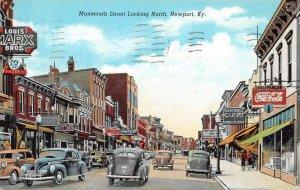 Newport Kentucky Monmouth Street Coke Sign Vintage Postcard AA41254