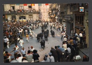 Running of the Bulls - Pamplona, Spain - Post Card - Unused