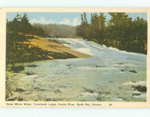 North Bay Ontario Canada Tomahawk Lodge French River   Postcard # 5766