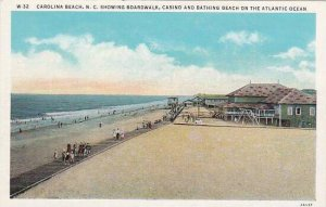 North Carolina Carolina Beach Showing Boardway Casino And Bathing Beach On Th...