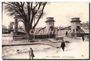 Old Postcard Tarascon the Suspension Bridge