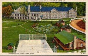 Virginia Mountain Lake The Mountain Lake Hotel Showing Tennis Courts