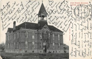 F71/ Canton South Dakota Postcard 1909 High School Building
