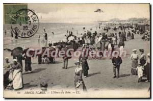 Old Postcard Berck Plage time Bath