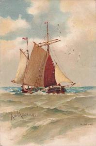 Sailing Vessel , In Full Sail , Artist Martino , PU-1906