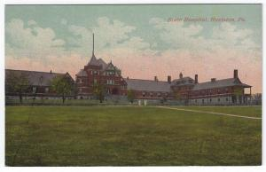 Hazleton, Pennsylvania, Early View of The  State Hospital