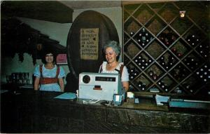 Altus Arkansas~Swiss Chalet Gift Shop~Cash Register Clerk 1986 Postcard
