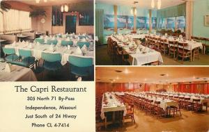 Independence Missouri~The Capri Restaurant Banquet Rooms~Grand Piano 1964