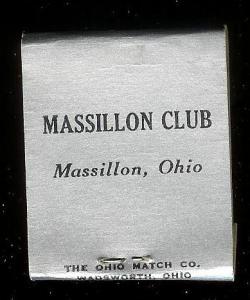 MASSILLON CLUB Ohio 1940's Full Unstruck Matchbook