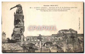 Old Postcard Albert Somme Basilica of Our Lady of Brebieres Army