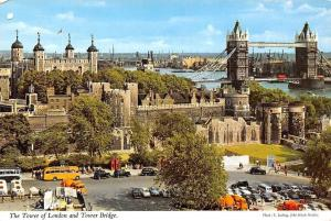 The Tower of London and Tower Bridge General view