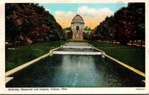 Ohio Canton McKinley Memorial and Lagoon 1947 Curteich