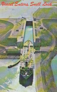 New York Massena Norwegian Vessel Solviken Entering Snell Lock