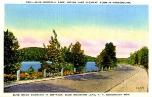 NY - Adirondacks, Blue Mountain Lake. Indian Lake Highway
