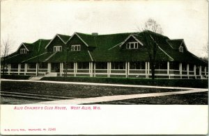 Vtg Postcard c. 1908 West Allis Wisconsin - Allis Chalmer's Club House
