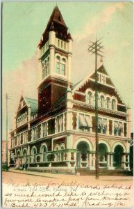 Vintage 1906 READING, Pennsylvania Postcard Post Office Building View ROTOGRAPH