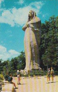 Illinois Oregon Black Hawk Statue At Eagles Nest Bluff In Lowden State Park