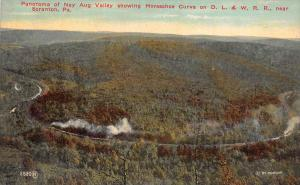 19713  Aerial View  of Nay Aug Valley showing Horseshoe Curve on D.L. and W. ...