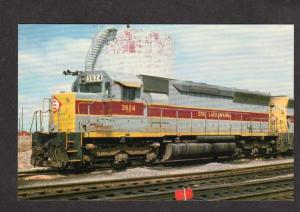 NY EMD Erie Lackawanna Railroad Train Loco 3624 Sloan New York Postcard RR PC