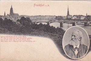Germany Frankfurt am Main Panorama & Friedrich Stoltze