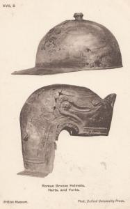 Roman Yorkshire Hertfordshire Bronze Helmets Sculpture Primitive Art Postcard