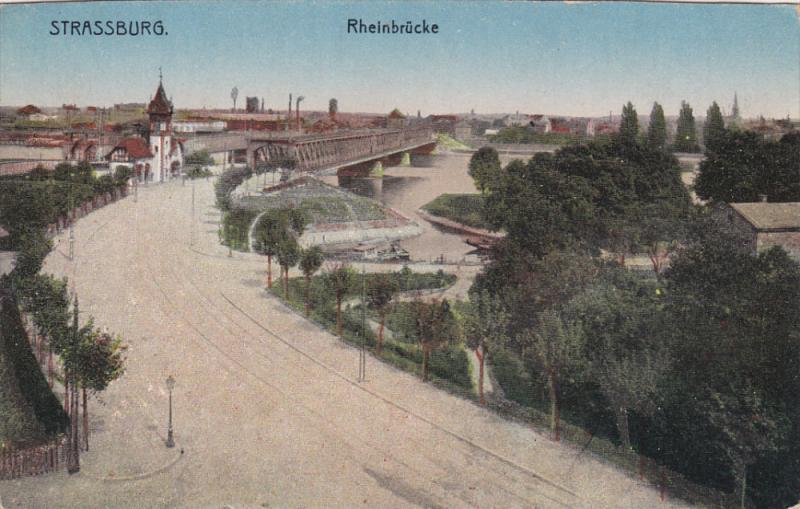STRASSBURG, Germany, 1900-1910's; Rheinbrucke