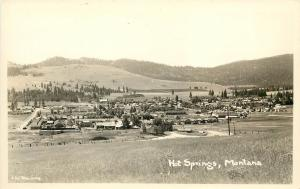 RPPC Postcard Hot Springs Montana Flathead Indian Reservation in Sanders County