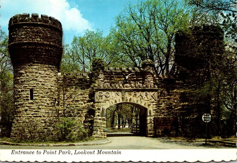 Tennessee Chattanooga Lookout Mountain Entrance To Point Park