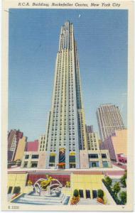 Linen of R.C.A. Building Rockefeller Center New York City NY