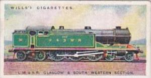 Wills Cigarette Card Railway Engines No 7 L M &  S Railway Glasgow Section