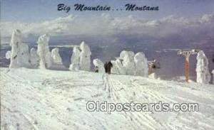 Big Mountain, MT USA Ski, Skiing Postcard Post Card Old Vintage Antique  Big ...