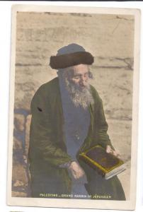 Judaica Rabbi Palestine Grand Rabbin de Jerusalem French PC