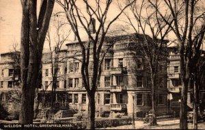 Massachusetts Greenfield The Weldon Hotel 1941
