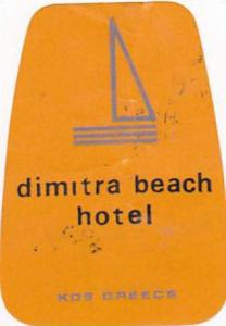 GREECE KOS DIMITRA BEACH HOTEL VINTAGE LUGGAGE LABEL
