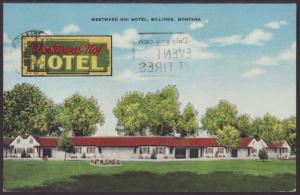 Westward Ho Motel,Billings,MT Postcard
