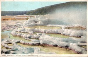 Yellowstone National Park Crater Of Old Faithful Detroit Publishing