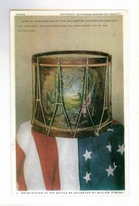 Drum Beaten at the Battle of Lexington by William Dimond unused Postcard
