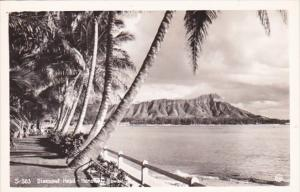 Hawaii Honolulu Diamond Head Real Photo